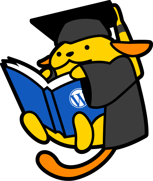 Eduwapuu is wearing a cap and gown and reading a book